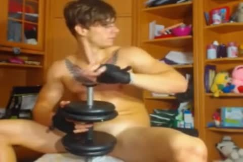 My Kinda Workout And Fitness On The webcam With His Girlfriend.