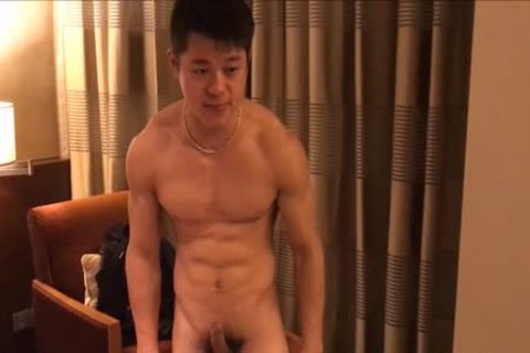 slutty muscular stud Showing Off His Muscle And penis