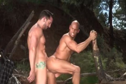 Tattoo Bodybuilder Outdoor Sex With ejaculation