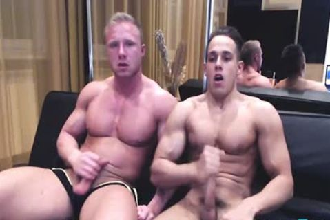 slutty Toned European Hunks shoot A monstrous Load jointly