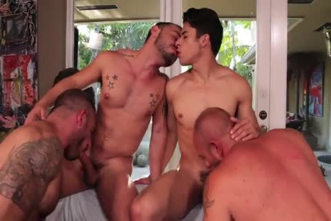 Rizzo, Lords, Andreas & Stevens - Muscled group-sex
