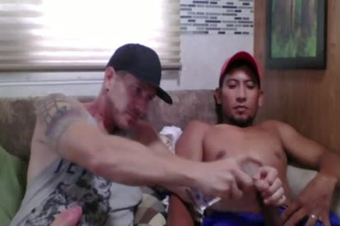 Straight Latino Construction Worker gets First cook jerking From A dude (Martin 2)