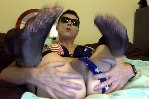 wicked Logan Male Stripper In Red White And Blue Bikini