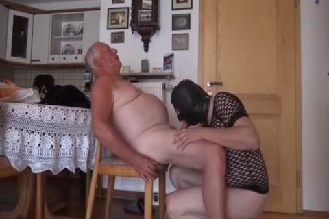 Super enchanting grandpa And Masked Unusual lad engulf And plow On